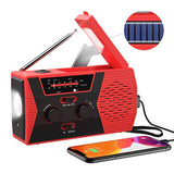 EDC USB Phone Emergency Charger Solar Hand Crank Portable Weather Radio