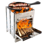 Portable Stainless Steel Wood-fired BBQ Stove