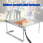 Folding Stainless Steel BBQ Grill