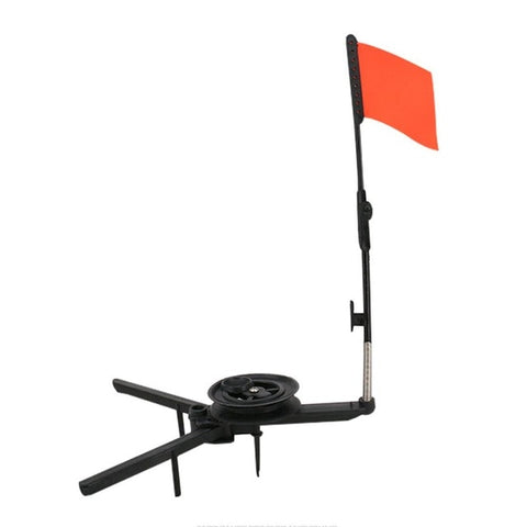 Automatic  Ice Fishing Rod Tip-up With Spool Foldable Marker Flag