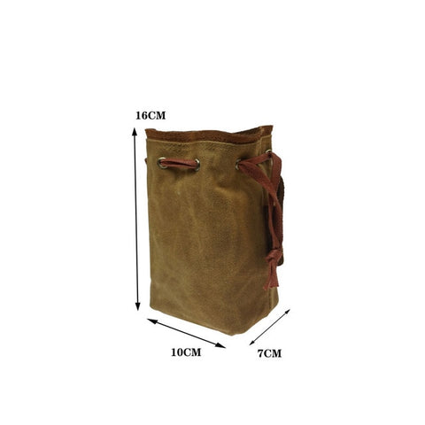 Tactical Military Drawstring Canvas Ammo Bag