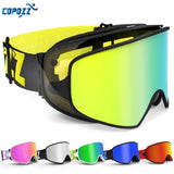 COPOZZ Ski/Snowboard Goggles 2 in 1 W/Magnetic Dual-Use Lens For Night Skiing Anti-Fog UV400