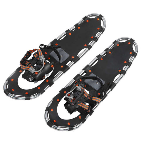 30inch Snowshoes Black Lightweight Aluminum Frame W/Quick Release Buckle