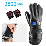 Adjustable Temperature Leather Heated Gloves