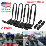 2 Pairs Kayak Roof Mount Carrier