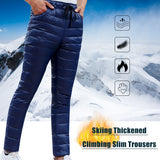 Windproof Drawstring Down Pants