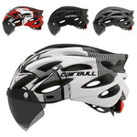 Ultralight Bicycle Helmet With Goggles &Taillight
