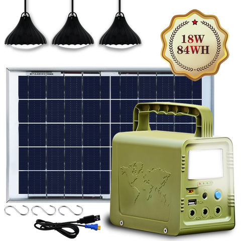 ECO-WORTHY 84WH Solar Panel Power Generator Kit