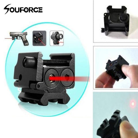 Mini Adjustable Compact Red Dot Laser Sight Fit for Glock 17 19 with 20 mm Rail Mount