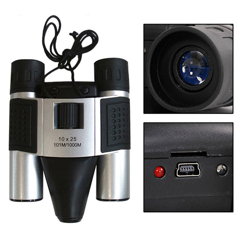 10X25 Binoculars Digital Camera 1.3MP CMOS Sensor 101m/1000m USB Zoom DVR Video Recording