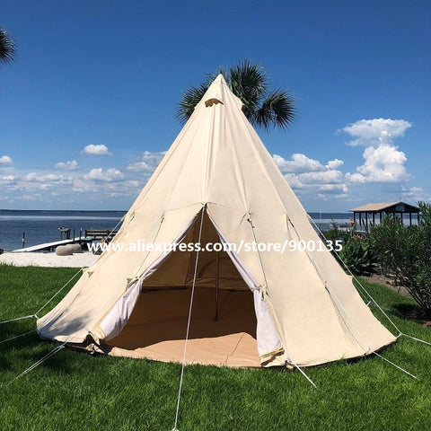 Cotton Canvas Indian Tipi Tent for Adults