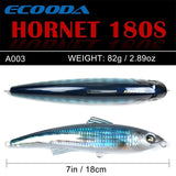 Ecooda Hornet 180mm 82g Popper Saltwater Lure For Kingfish/Tuna