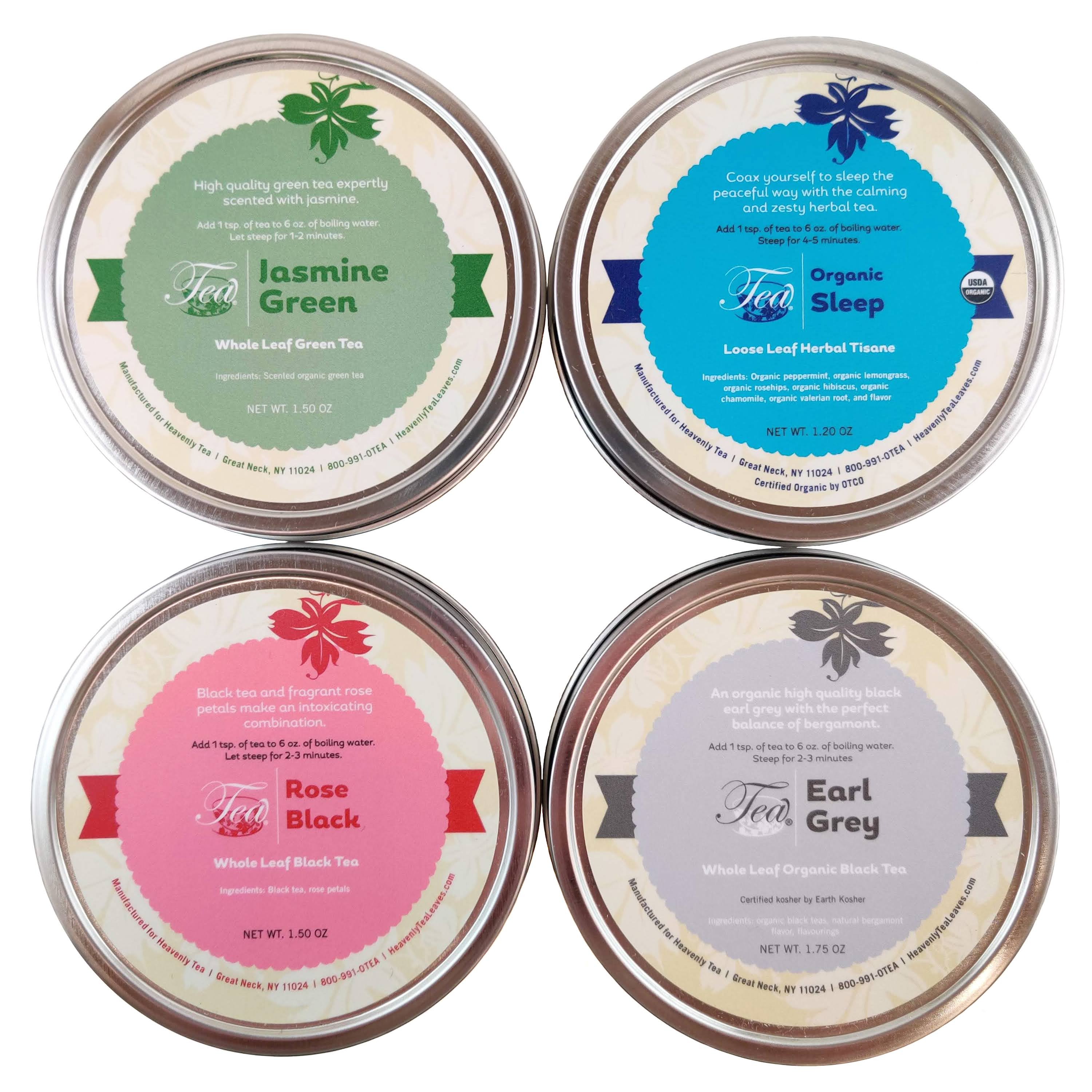Loose Leaf Tea Sampler Variety Packs - Try a Variety of Loose Leaf Teas & Herbal Tisanes - Heavenly Tea Leaves