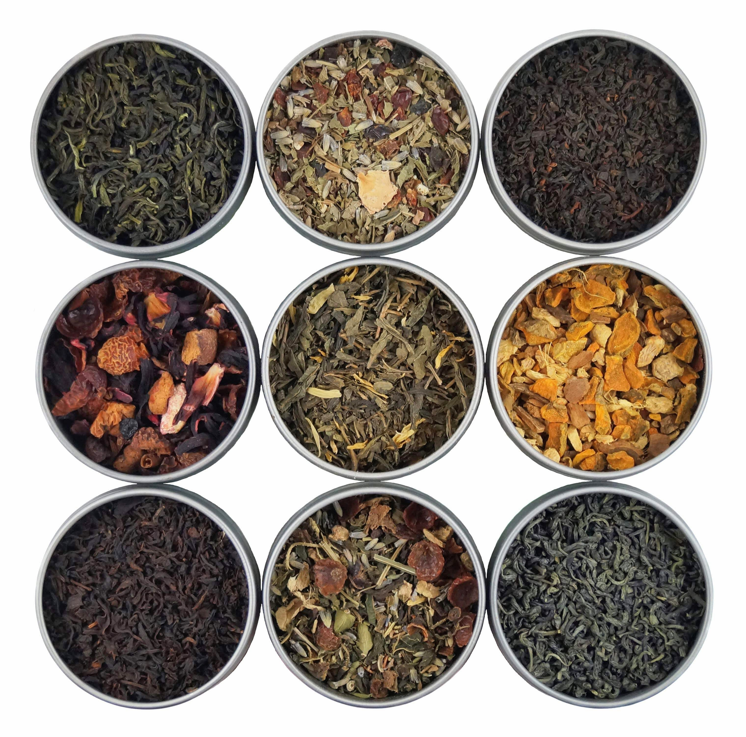 Tea Samplers - Loose Leaf Tea Samplers  - Tea Sampler Gift Sets - Try a Variety of Flavors & Tea Types - Heavenly Tea Leaves