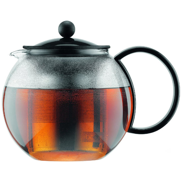 Bodum Assam Tea Press - Glass Tea Pot With Stainless Steel Filter - Heavenly Tea Leaves