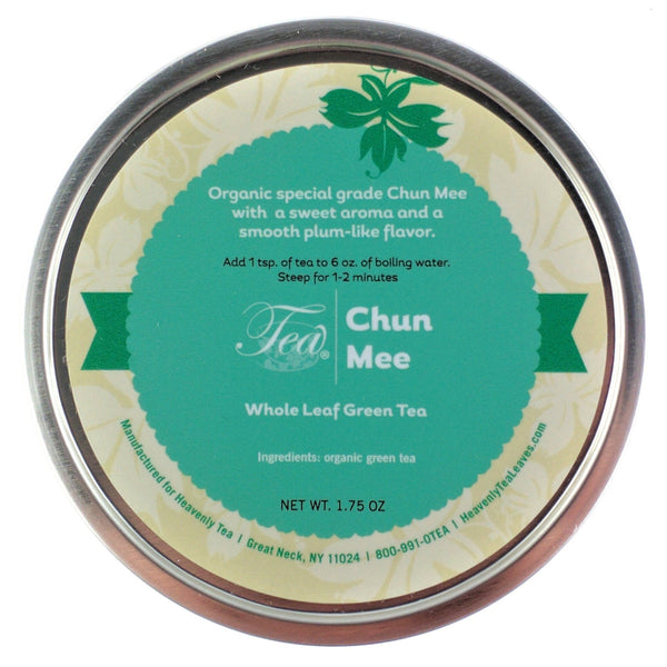 Chun Mee - Precious Eyebrow Tea - Organic Loose Leaf Green Tea - Premium Green Tea - Heavenly Tea Leaves