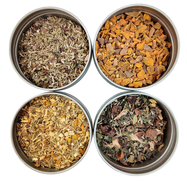 Organic Detox Loose Leaf Tea Sampler - 4 Loose Leaf Detox Teas & Herbal Tisanes - Detox & Cleanse - Loose Leaf Teas - Tea Gift Set - Heavenly Tea Leaves