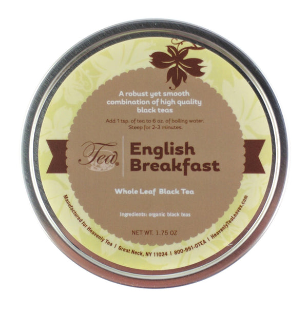 English Breakfast - Loose Leaf Black Tea - Premium Black Tea - Loose Tea Tin - Heavenly Tea Leaves