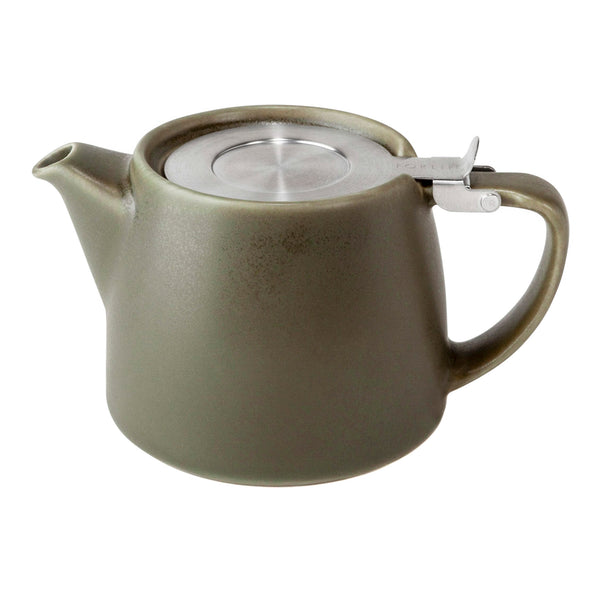 FORLIFE Artisan Collection Stump Teapot with Basket Infuser - Olive Green - Heavenly Tea Leaves
