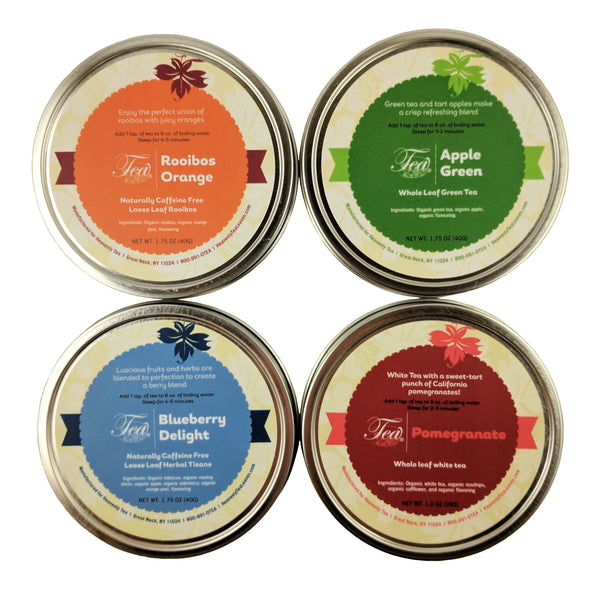 Fruit Loose Leaf Tea Sampler - Make For Great Homeade Iced Teas - Loose Leaf Tea Sampler Gift Set - Heavenly Tea Leaves