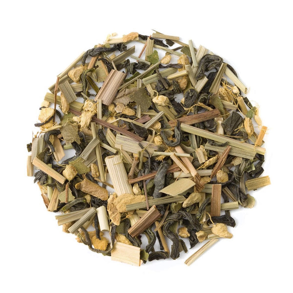 Organic Ginger Lemon Green Tea Tin - Loose Leaf Green Tea - Wellness Blend - Heavenly Tea Leaves
