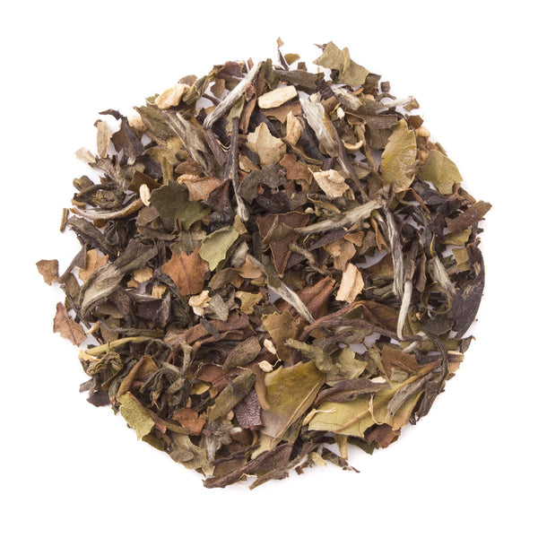 Ginger Peach White, Bulk Loose Leaf White Tea, 16 Oz.