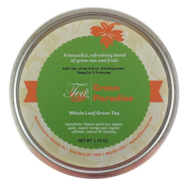 Green Paradise - Loose Leaf Green Tea Tin - Heavenly Tea Leaves