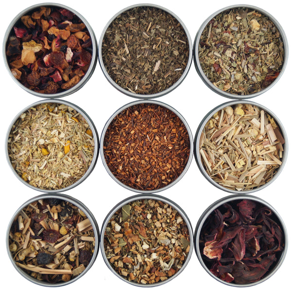 Heavenly Tea Leaves Herbal 9 Loose Leaf Tea Sampler - 9 Loose Leaf Herbal Tisanes