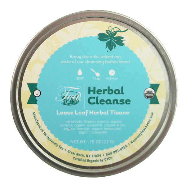 Organic Herbal Cleanse, Loose Leaf Herbal Tea Tin - Organic & Kosher - Heavenly Tea Leaves