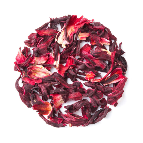 Organic Hibiscus Tea Tin - Loose Leaf Herbal Tisane - Naturally Caffeine Free - Antioxidant Rich - Heavenly Tea Leaves