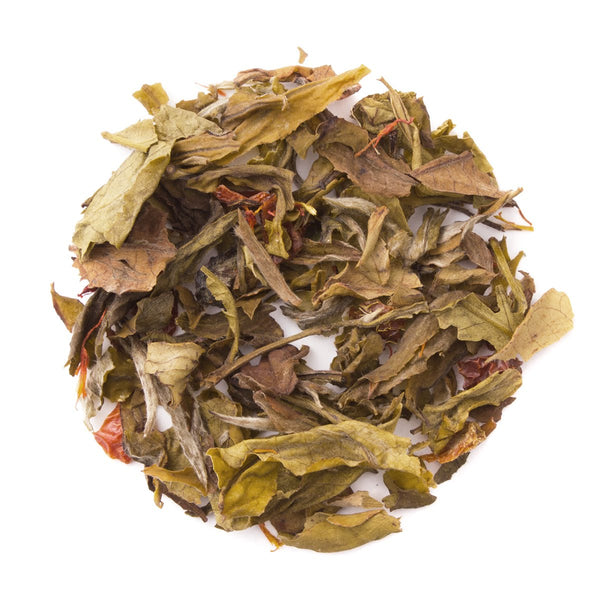 Organic Pomegranate White, Bulk Loose Leaf White Tea, 16 Oz.