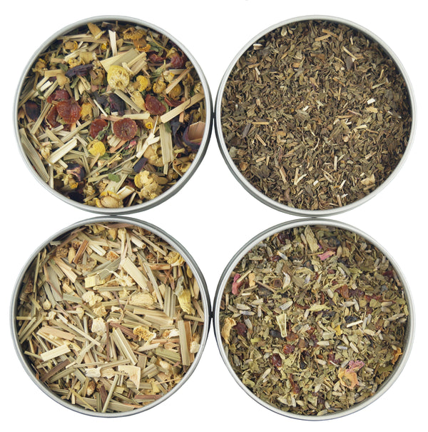Organic Sleep Loose Leaf Tea Sampler, 4 Loose Leaf Herbal Tisanes Perfect For Bedtime - Heavenly Tea Leaves
