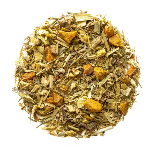 Organic Turmeric Ginger - Wellness Loose Leaf Tea Blend - Premium Herbal Tisane - A Strong Immune Boosting Loose Leaf Tea - Heavenly Tea Leaves