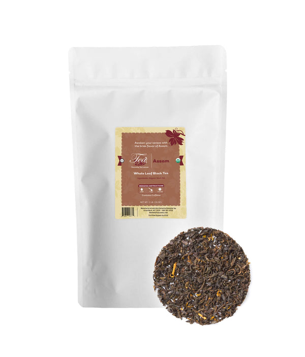 Organic Assam, Bulk Loose Leaf Black Tea, 16 Oz.