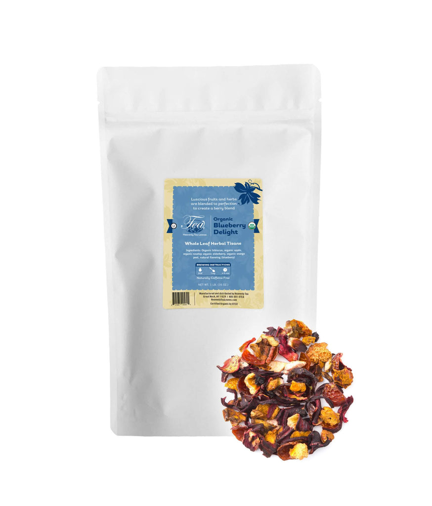Organic Blueberry Delight, Bulk Loose Leaf Herbal Tisane, 16 Oz.