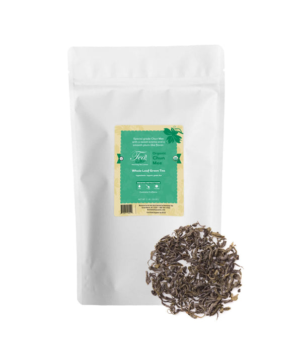 Organic Chun Mee, Bulk Loose Leaf Green Tea, 16 Oz.