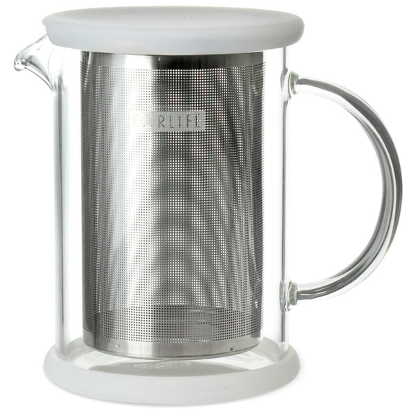 FORLIFE LUCENT Glass Teapot with Basket Infuser, Clear