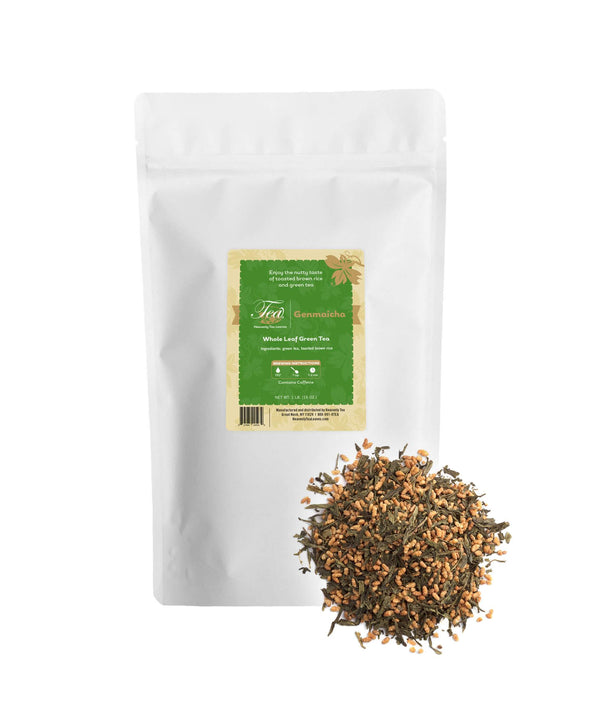Genmaicha, Bulk Loose Leaf Green Tea, 16 Oz.