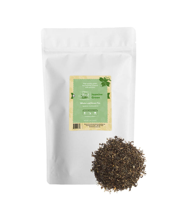 Heavenly Tea Leaves Jasmine Green Tea, Bulk Loose Leaf Green Tea, 16 Oz.
