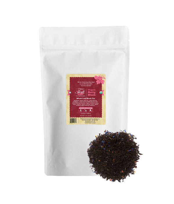 Organic Berry Black, Bulk Loose Leaf Black Tea, 16 Oz.