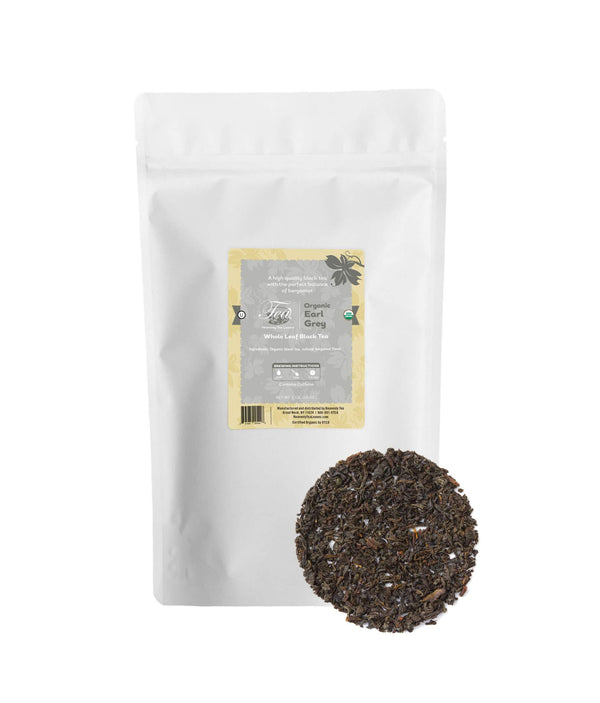Organic Earl Grey, Bulk Loose Leaf Black Tea, 16 Oz.