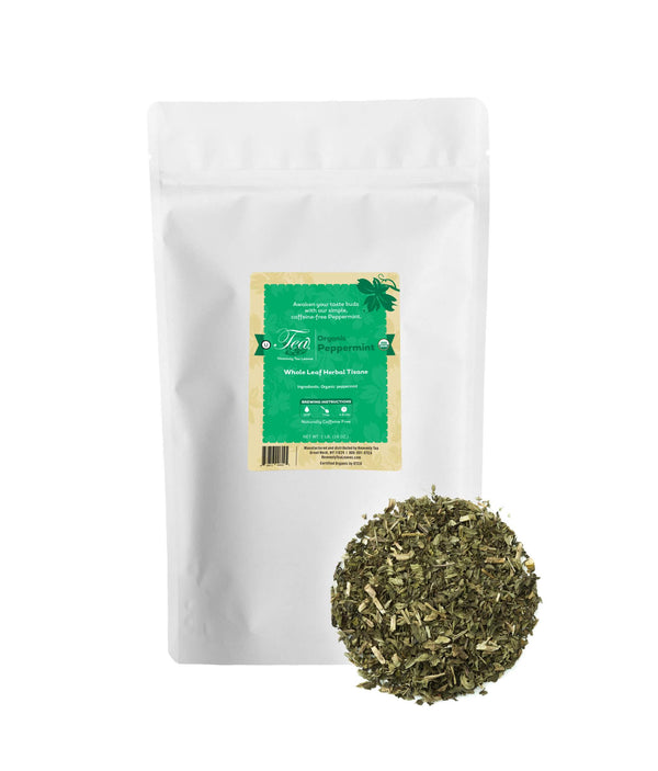 Organic Peppermint - Loose Leaf Herbal Tisane - Bulk Tea - Heavenly Tea Leaves