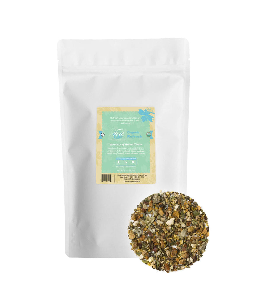 Refresh - Loose Leaf Herbal Tisane - Bulk Tea - Healthy & Immunity Tea - Heavenly Tea Leaves