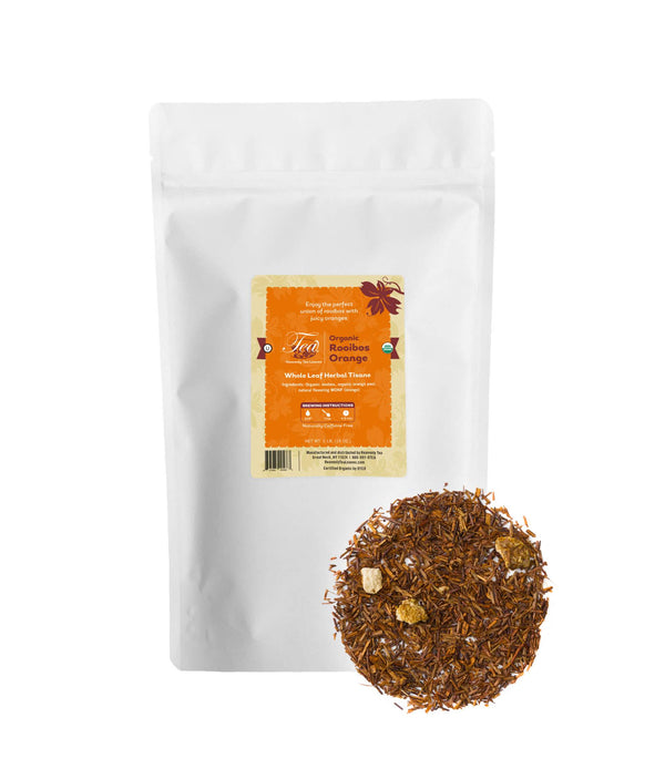 Organic Rooibos Orange, Bulk Loose Leaf Herbal Tisane, 16 Oz.