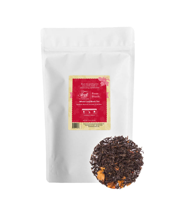 Rose Black, Bulk Loose Leaf Black Tea, 16 Oz.