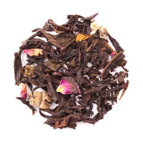 Organic Rose Oolong - Loose Leaf Oolong Tea - Heavenly Tea Leaves