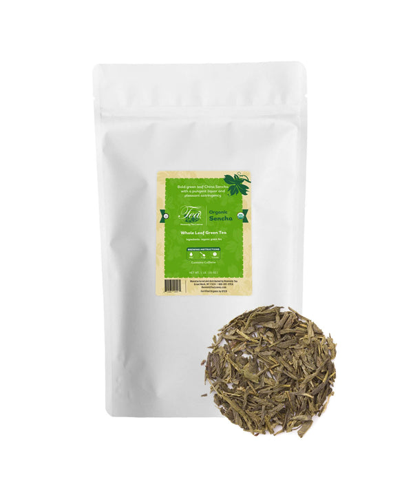 Organic Sencha, Bulk Loose Leaf Green Tea, 16 Oz.