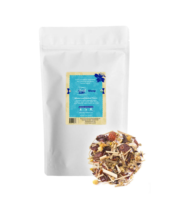 Organic Sleep, Bulk Loose Leaf Herbal Tisane, 16 Oz.