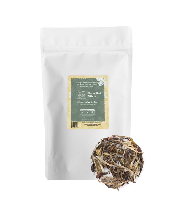 Snow Bud White, Bulk Loose Leaf White Tea, 16 Oz.