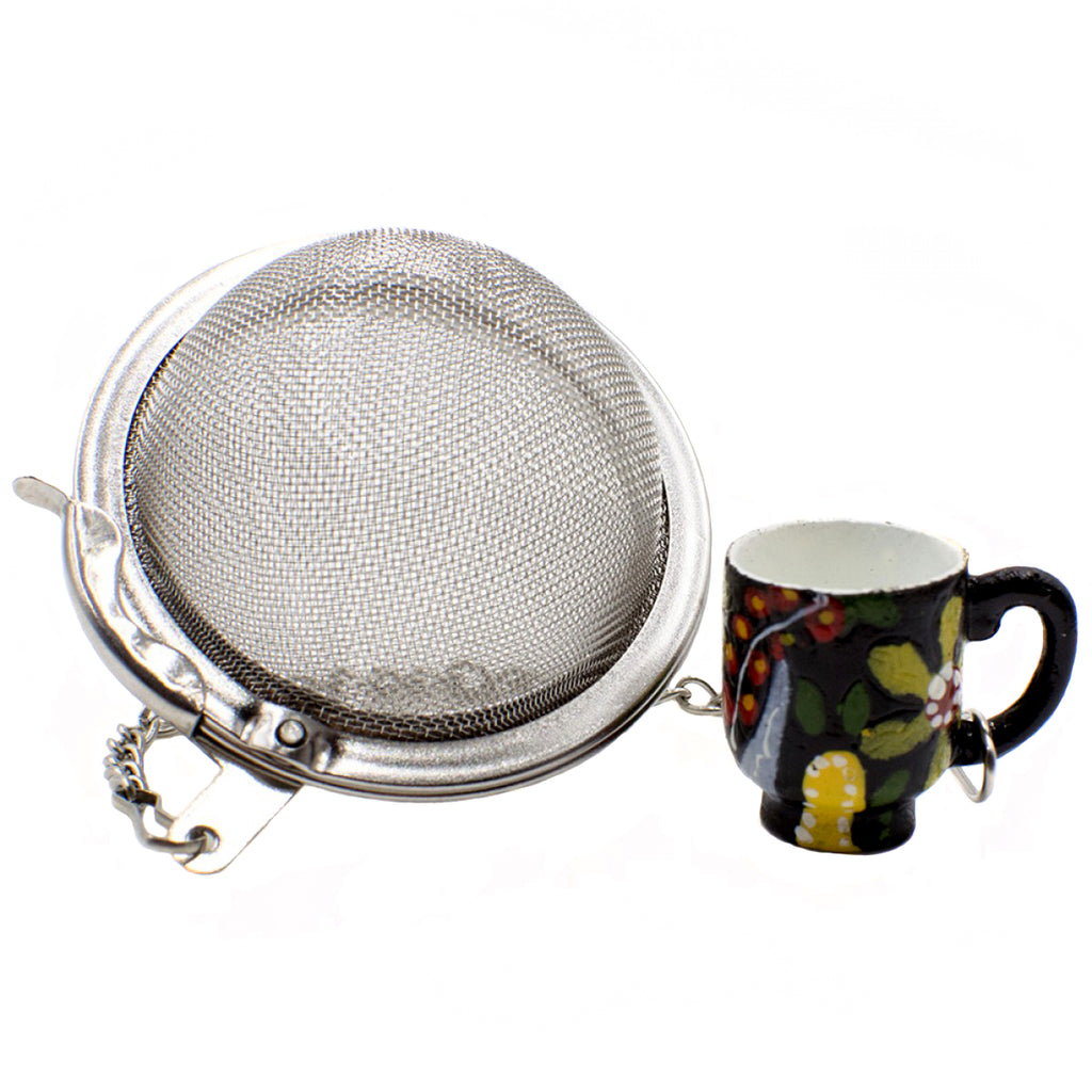 Decorative Mesh Tea Ball - Strainer for Loose Tea Leaves - Heavenly Tea Leaves